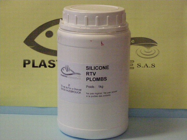 Silicone silicone 1 kg de silicone rtv plomb catalyseur for Comment enlever du silicone sec